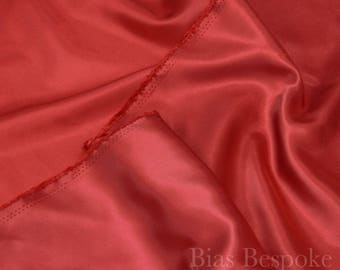 Cherry Red Lining Fabric 'Chengis', Sold by the Yard