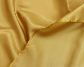 Gold Colored Lining Fabric, 'Chengis', Sold by the Yard
