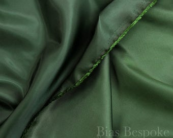 Two-Tone Forest Green Lining Fabric 'Chengis', Sold by the Yard
