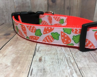 "The Cassius - Designer 1"" Width Dog Collar -  CupcakePups Dog Collars - Cute Carrots"