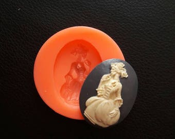 Silicone rubber mold CAMEO Lady skeleton
