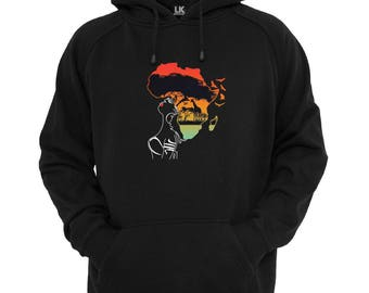 Women's Afro Africa Scene Hoodie Abstract Art Hoody Phenomenal Sweater Jersey Jumper