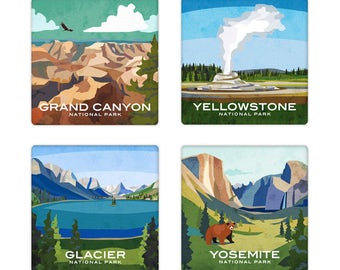 National Park Coaster Set