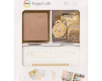 Kraft and Foil - Project Life - Heidi Swapp - 87 Pieces