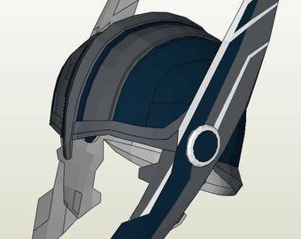 DIY Thor Ragnarok: Thor helmet templat for EVA foam from ...