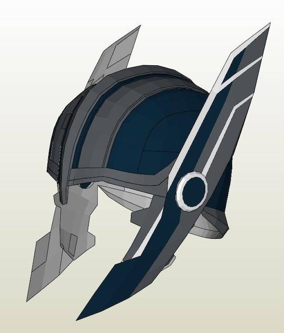 Thor Ragnarok helmet Pepakura DIY pattern from MaxCrft on ...