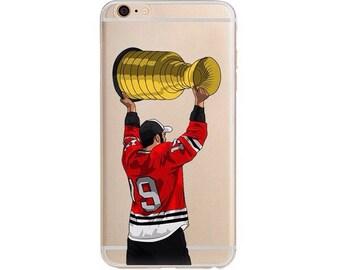 Toewsy Hockey Phone Case / Hockey Phone Case / Fits iPhone 5, iPhone 6, iPhone 7 / Handdrawn iPhone Case by DangleGear Co