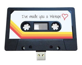 4GB/8GB/16GB USB Mixtape - Retro Personalised Gift -  Loved One, Red, Girlfriend, Boyfriend- Cute Birthday Present- Valentines Day
