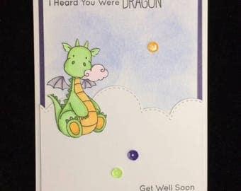 Heard You Were Dragon Get Well Card