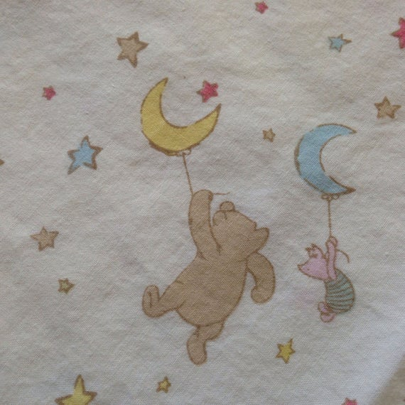 Winnie The Pooh The Moon And Piglet Fabric From Waysiders