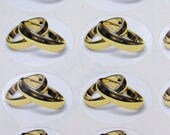 64 Entwined gold ring stickers (161)