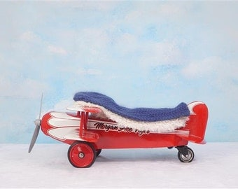 Digital Newborn Backdrop Airplane. One of a kind prop!