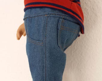 """Denim  shorts for 18""""  Boy Doll-  Boy Doll clothes - boy  doll shorts - 18 inch boy doll summer shorts"""
