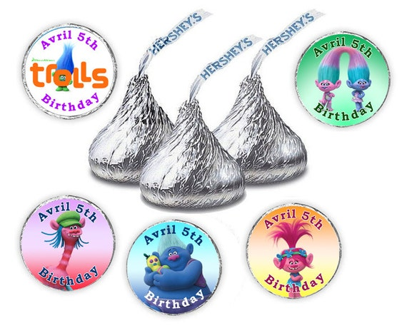 Personalized Hershey Kisses Stickers