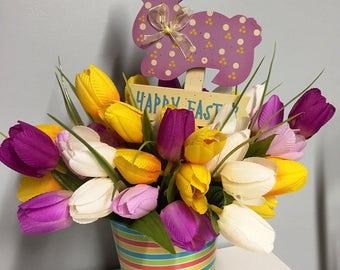 Easter floral arrangement