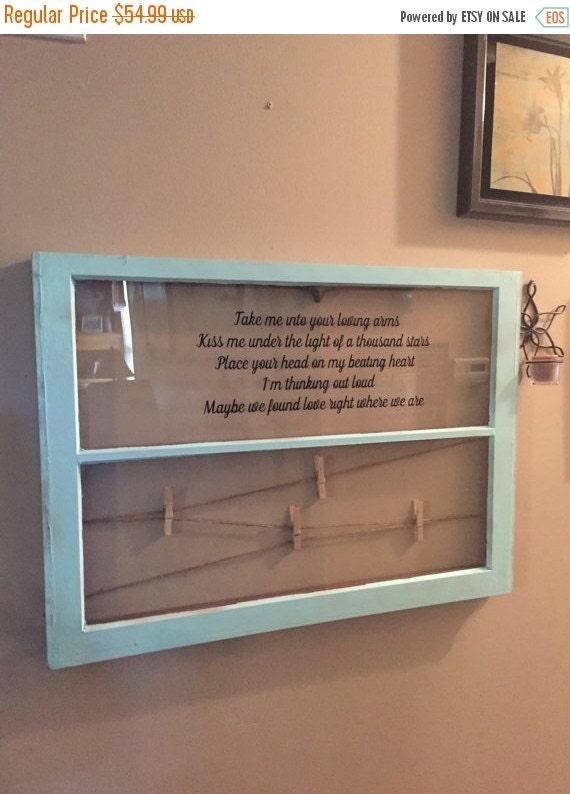 On sale wood window picture frame vinyl by sandjbargainvault for Wood windows for sale online