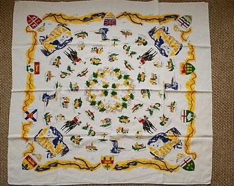 Vintage Canada Souvenir Tablecloth
