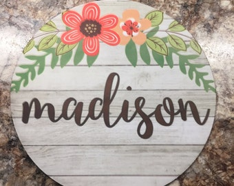 Rustic Floral Mousepad // Monogrammed Mousepad // Personalized Mousepad // Mousepad with name