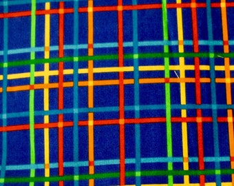 "18""x22"", Fat Quarter, Bright Blue Fabric, Multi Colored Fabric, VIP Print Cranston Print Works, Quilting Fabric, Fabric"