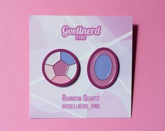 Steven Universe Rainbow Quartz Gem Pins Soft Enamel Pin Set Best Friends Friendship Pins