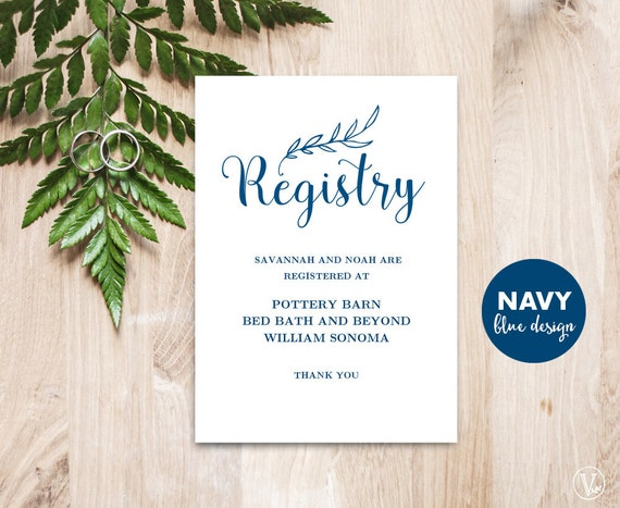 Wedding Gift Card Registry