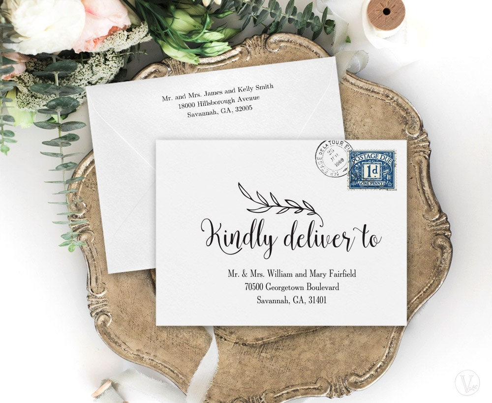 It's just an image of Decisive Printable Envelope Address Template