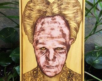 Vampire Art, Dracula Poster, Gothic Literature, Horror Face - Gary Oldman, Bram Stocker, Scary Gift Idea, Gift for Writers, Transylvania