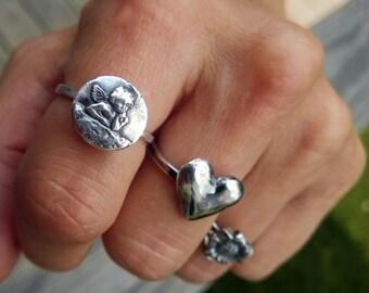 Raphael Angel Ring, Angel Ring, Silver Angel Ring, Angel Rings, Angel Jewelry, Cherub Ring, Guardian Angel Ring, Cherubim Ring