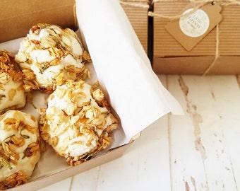 Bath Truffles Gift Set, Jasmine Hand Rolled Truffles, Gift Box Bath Melts, Thank You Gift