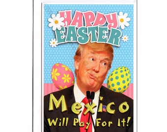 Easter Card, Funny Easter Card, Donald Trump, Funny Greeting Card, Funny Holiday Card, Easter Rabbit, Boyfriend, Girlfriend, For Her, Him