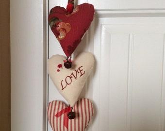 Holiday Love Door Decor, Valentine Day Door Hanger, Romantic Valentine, Heart Door Hanger, Wedding Decor, Door Ringer, Door Bells,