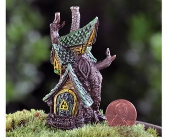Fairy Garden  - Micro Mini Tree House - Miniature