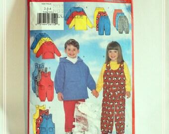 Vintage 1997 UNCUT Sewing Pattern, Butterick 5164. Age 2-4. Children's top, Jumpsuit and Pants/Trousers.