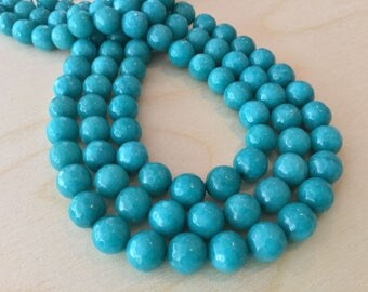 Turquoise Jade Beads 10mm