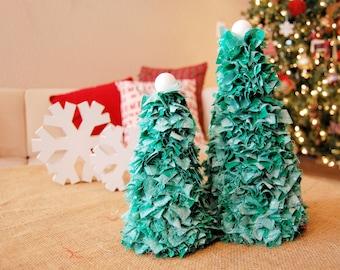 Fabric Christmas Tree Set