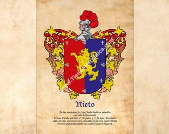 A surname Heraldic Shield