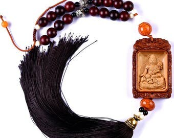 Samantabhadra Bodhisattva Mantra Car Ornaments-WEN36033867811-GVN