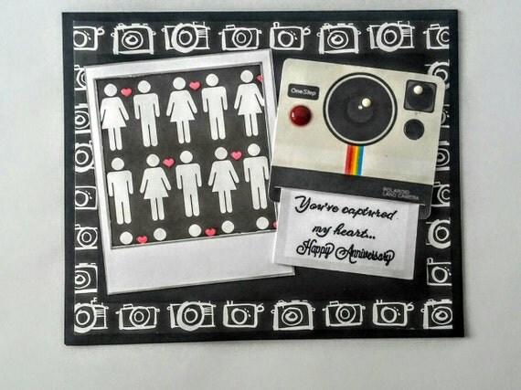 Polaroid Themed Anniversary Card