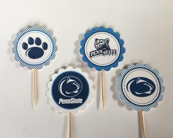 Penn State University / Nittany Lions - 12 cupcake toppers