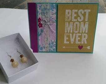 Best Mom Ever and Natural Beauty Earring Gift Set