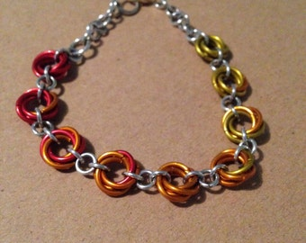 mobius weave chainmaille bracelet