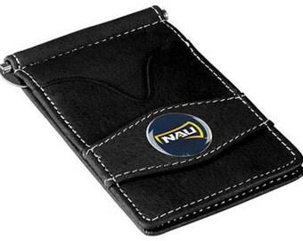 Northern Arizona Lumberjacks Black Leather Wallet Card Holder