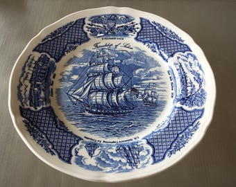 Alfred Meakin Fair Winds The Friendship of Salem Plate Sailing Clipper Ship Plate 10 1/2""