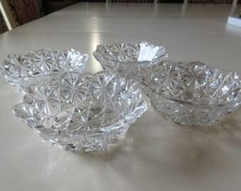 PRESSED GLASS FINGER Bowls
