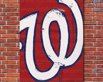 Washington Nationals Graffiti- Art Print - Perfect for Mancave