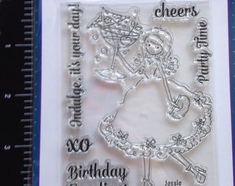 Party Girl stamp
