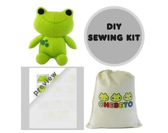 DIY Plush Frog Kit, Frog Plush Toy, Toy Making Sewing Kit, Plush Toy Sewing Kit, Froggy Toy Kit, Baby Toy Sewing Kit, Stuffed Frog Sewing