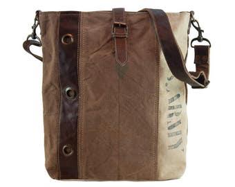 Sunsa woman crossbody bag canvas bag shoulder bag handbag Artno.: 51677