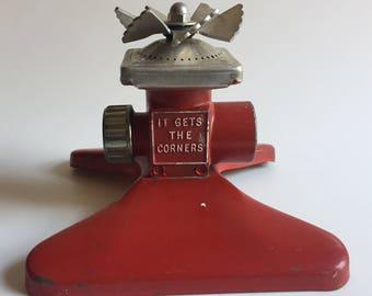 Vintage SquareSpray Red Metal Sprinkler It Gets the Corners by Proen