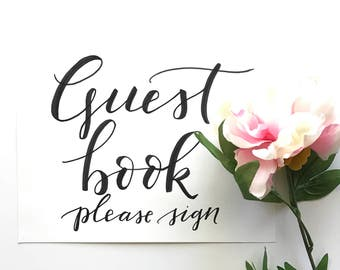 8x10 Guest Book sign